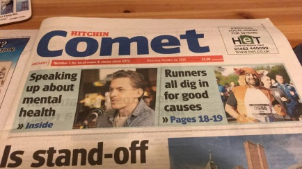 Hitchin Comet Front Page