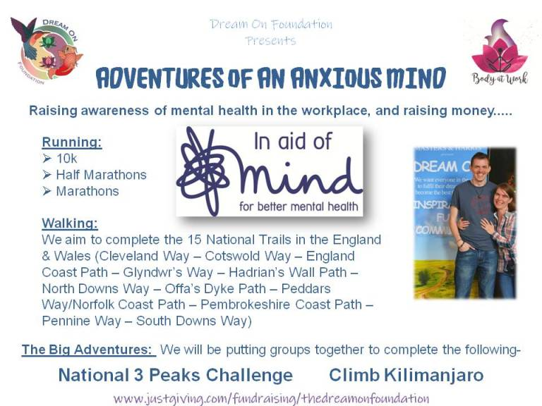 Adventures of an Anxious Mind - Revised with Just Giving Link