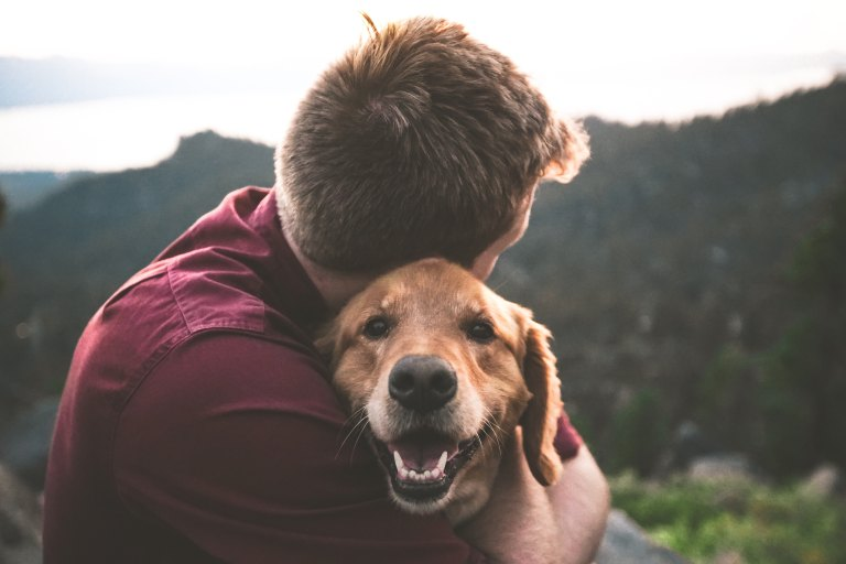 Man and dog - Photo by Samuel Zeller on Unsplash