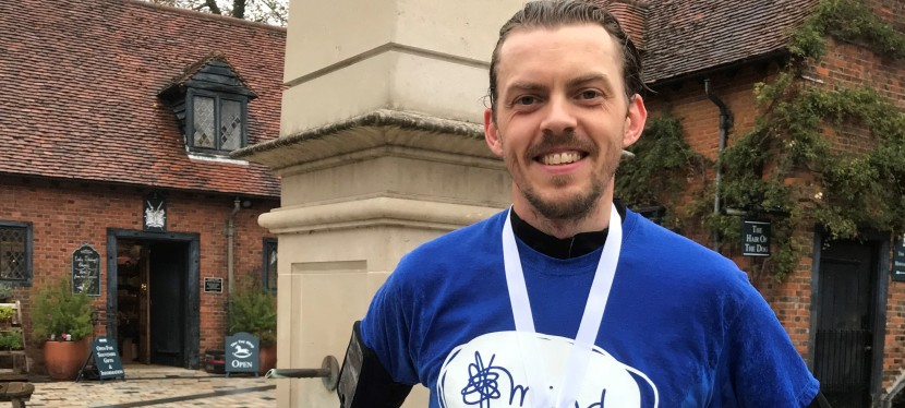 Running 480 miles, in 16 Weeks, In Aid of Mind.