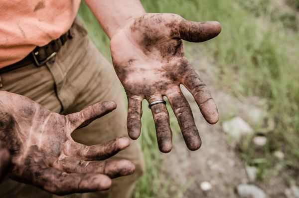Dirty Hands - Photo by jesse orrico on Unsplash