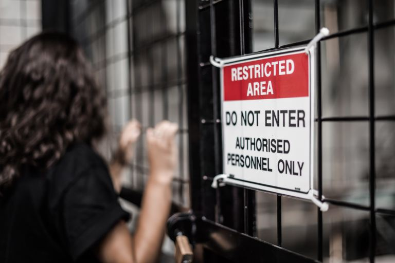 Restricted Area - Photo by Kelli McClintock on Unsplash